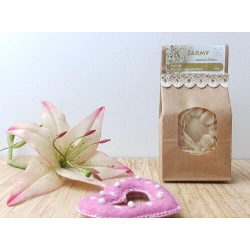 Virág alakú natúr szappan - díszcsomagolásban